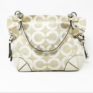 Coach Ivory/Cream Shoulder Bag Tote Purse